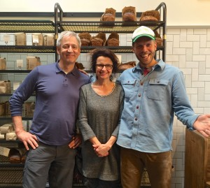 Josey Baker Bread bakery, with baking instructor Michael Kalanty and Josey Baker, San Francisco